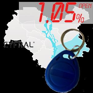 "(1,05%)-Ключ ""№36К"" (Cyfral)"