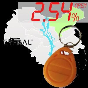 "(2,54%)-Ключ ""№17К"" (Cyfral)"