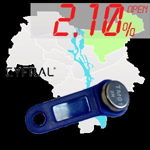 "(2,10%)-Ключ ""№21К"" (Cyfral)"