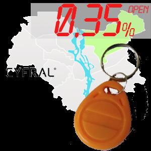 "(0,35%)-Ключ ""№66К"" (Cyfral)"