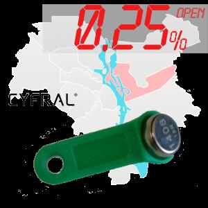 "(0,25%)-Ключ ""№5К"" (Cyfral)"
