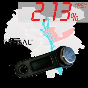 "(2,13%)-Ключ ""№6К"" (Cyfral)"