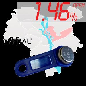 "(1,46%)-Ключ ""№24К"" (Cyfral)"