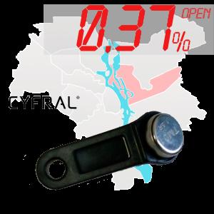 "(0,37%)-Ключ ""№40К"" (Cyfral)"