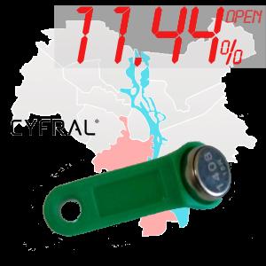 "(11,44%)-Ключ ""№8К"" (Cyfral)"