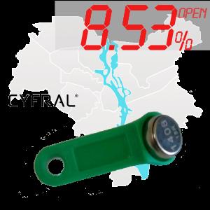 "(8,53%)-Ключ ""№3К"" (Cyfral)"