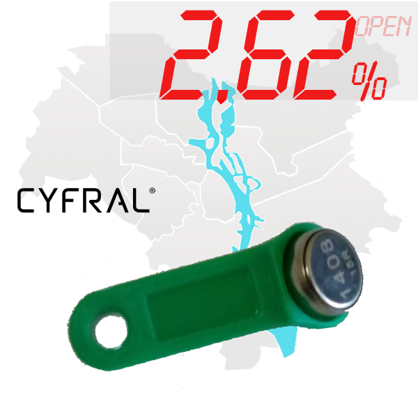 "(2,62%)-Ключ ""№6К"" (Cyfral)"