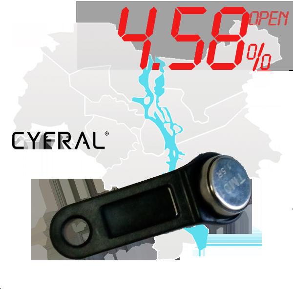 "(4,58%)-Ключ ""№9К"" (Cyfral)"