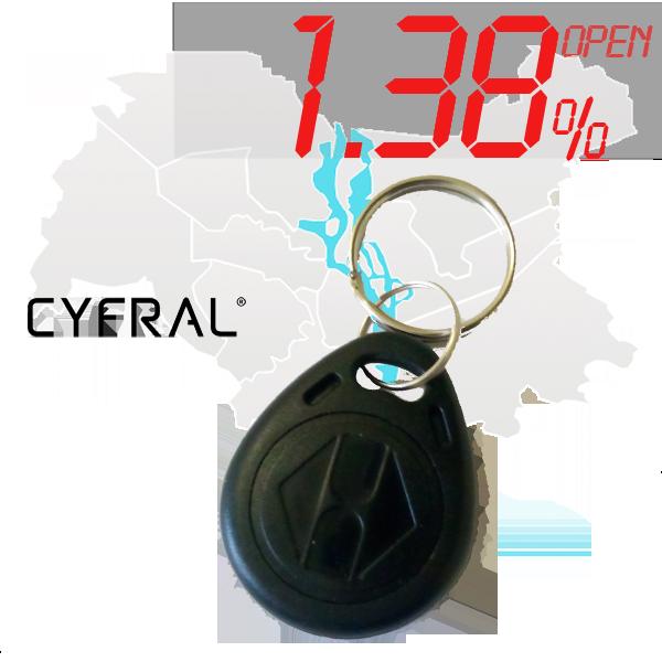 "(1,38%)-Ключ ""№17К"" (Cyfral)"