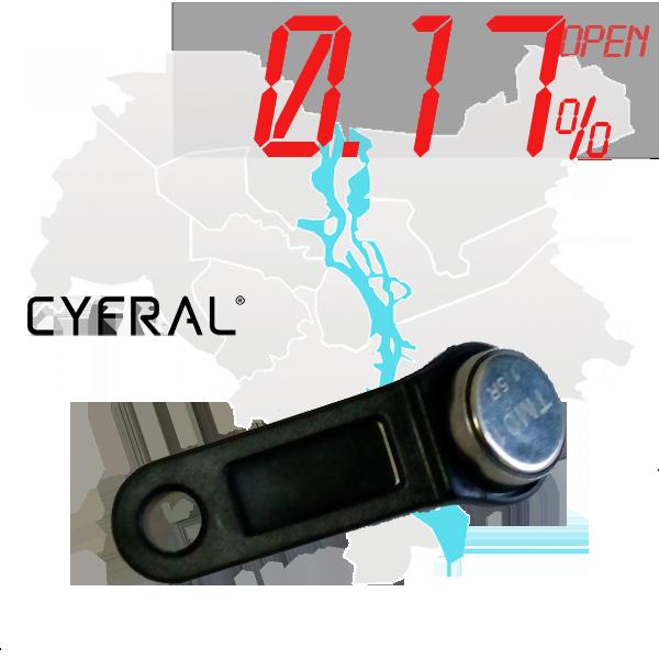 "(0,17%)-Ключ ""№43К"" (Cyfral)"