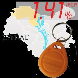 "(1,41%)-Ключ ""№28К"" (Cyfral)"