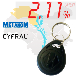 "(2,11%)-Ключ ""№4"" (Metakom, Cyfral)"