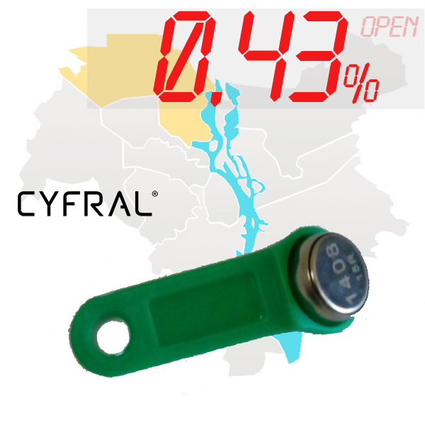 "(0,43%)-Ключ ""№63К"" (Cyfral)"