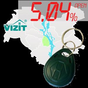 "(5,04%)-Ключ ""№10"" (Vizit)"