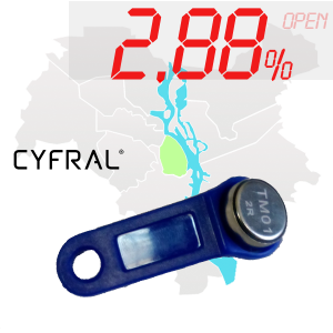 "(2,88%)-Ключ ""№8К"" (Cyfral)"