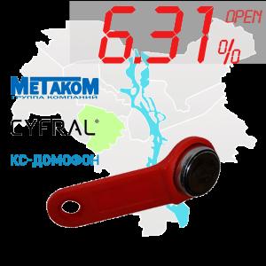 "(6,31%)-Ключ ""№1"" (Cyfral, Metakom, КС)"