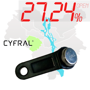 "(27,24%)-Ключ ""№18К"" (Cyfral)"